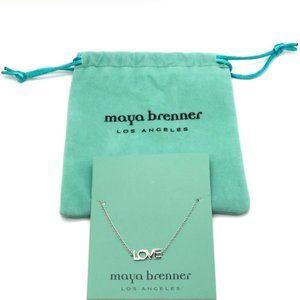 NEW MAYA BRENNER SILVER ~LOVE~ BRACELET